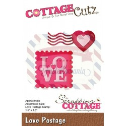 Fustella metallica Cottage Cutz Love Postage