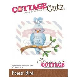 Fustella metallica Cottage Cutz Forest Bird