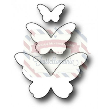 Fustella metallica PoppyStamps Emelia Butterfly Trio