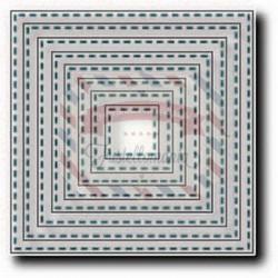 Fustella metallica Tutti Designs Nesting Stitched Squares