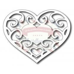 Fustella metallica Filagree Heart