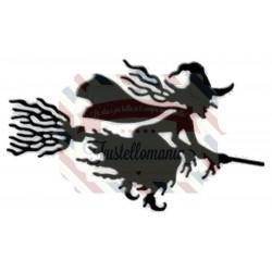 Fustella metallica Strega con scopa