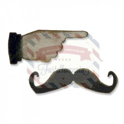 Fustella Sizzix Movers & Shapers Mini Mustache & Pointed Finger