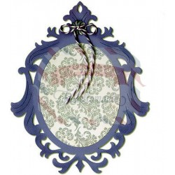 Fustella Sizzix Thinlits Ornate Oval Frame