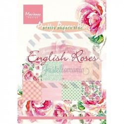 Carta da scrapbooking Marianne Design Bloc English Roses