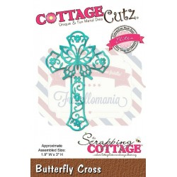 Fustella metallica Cottage Cutz Butterfly Cross