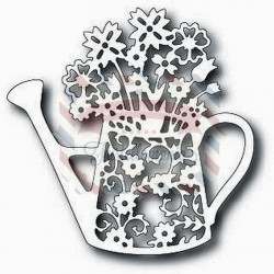 Fustella metallica Tutti Designs Floral Watering Can