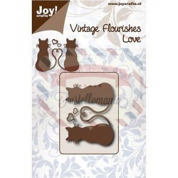 Fustella metallica Joy! Crafts Vintage Flourishes Love Cats