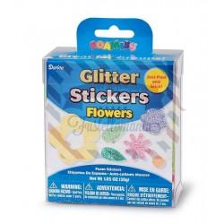 Fustellati in fommy adesivo glitterato Flowers
