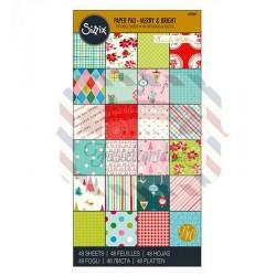 Carta da scrapbooking Sizzix Cardstock Merry & Bright 48 fogli