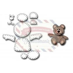 Fustella metallica Felt Teddy bear