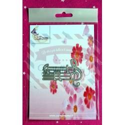 Fustella metallica Pentagramma con chiave di Violino