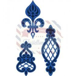 Fustella metallica Marianne Design Creatables Anja's Vintage 3 ornaments