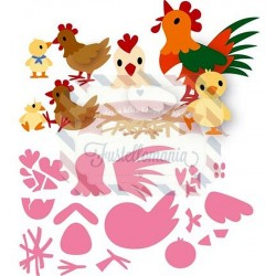 Fustella metallica Marianne Design Collectables Eline's Chicken Family