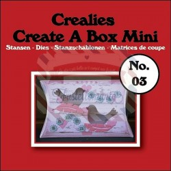 Fustella metallica Crealies Create a box Mini Cuscino 03