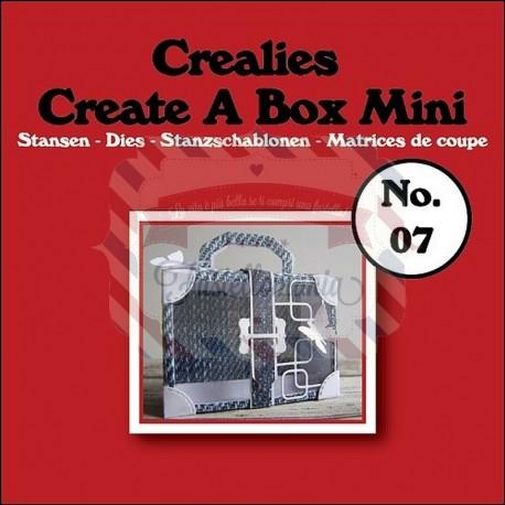 Fustella metallica Crealies Create a box Mini Suitcase 07