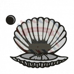 Fustella metallica Marianne Design Craftables Scallop