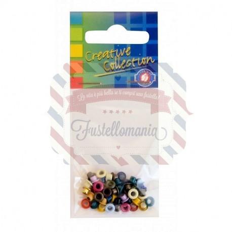 Set 50 occhielli assortiti colori misti