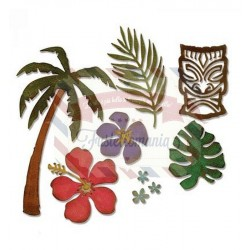 Fustella Sizzix Thinlits Tropical by Tim Holtz
