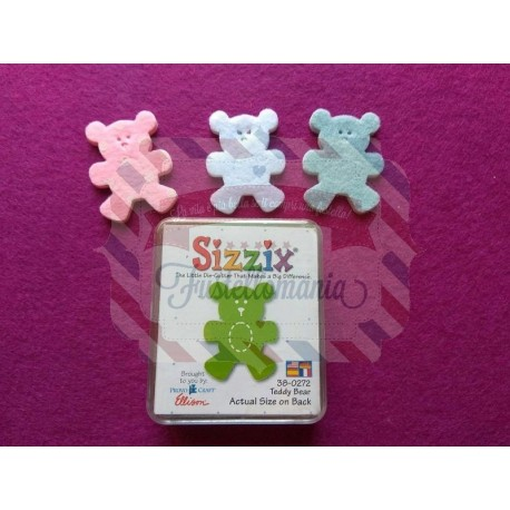 Fustella Sizzix Originals Green Orsetto Teddy bear