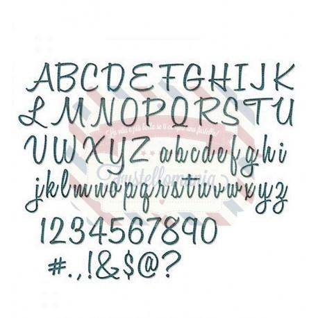 Fustella Sizzix Thinlits Script Upper & Lower