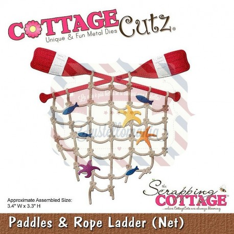 Fustella metallica Cottage Cutz Paddles & Rope Ladder (Net)