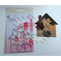 Fustella metallica Casetta Puzzle