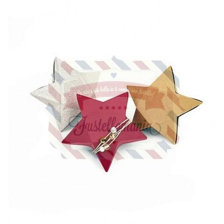 Fustella Sizzix Thinlits Plus Star Box by Debi Potter