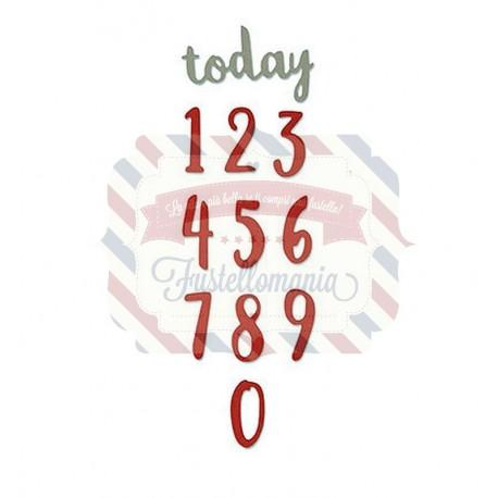 Fustella Sizzix Thinlits Brush Numbers