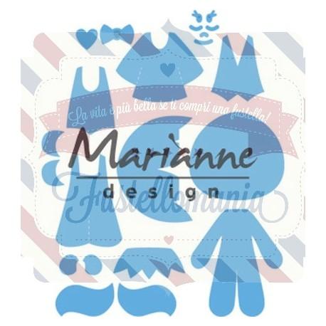 Fustella metallica Marianne Design Creatables Kim's Buddies