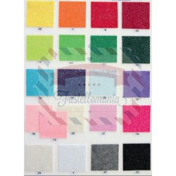 Pannolenci 1mm - 1 foglio 30x40 cm glitterato vari colori
