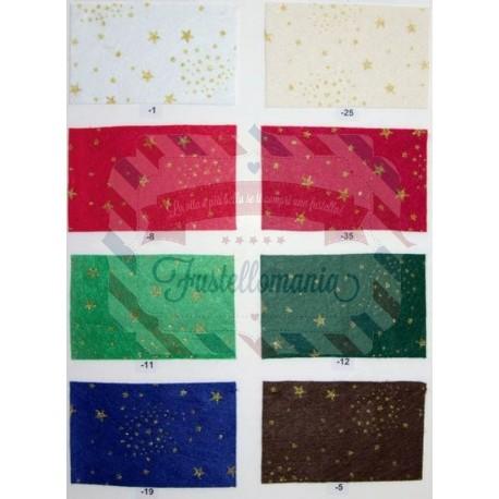Pannolenci 1mm con stelle - 1 foglio 30x40 cm