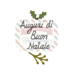 Fustella Sizzix Thinlits Auguri di Buon Natale