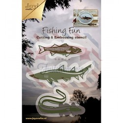 Fustella metallica Joy! Crafts Cutting & Embossing Fishing Fun