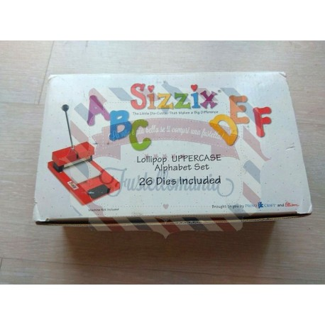 Fustella Sizzix Alfabeto Lollipop Uppercase maiuscolo
