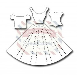 Fustella metallica Pleated Dress