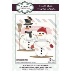 Fustella metallica Creative Expressions Collection Snowman