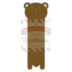 Fustella metallica Bear Bookmark