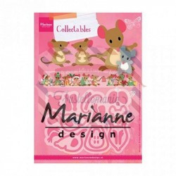 Fustella metallica Marianne Design Collectables Eline's Mice Family