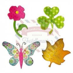 Fustella Sizzix Bigz Farfalla Fiore Foglia Trifoglio