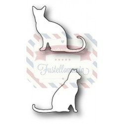 Fustella metallica PoppyStamps Neighborly Cats