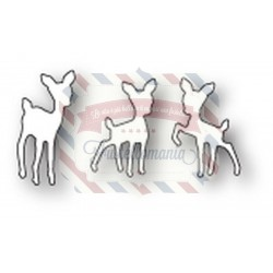 Fustella metallica PoppyStamps Tiny Fawns