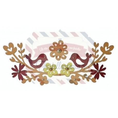 Fustella Sizzix Thinlits Set Love Birds