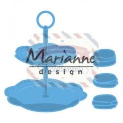Fustella metallica Marianne Design Creatables Tiered Tray & Macarons