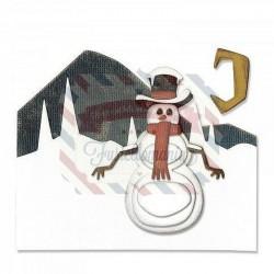 Fustella Sizzix Thinlits Snowman Scene by Tim Holtz