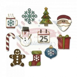 Fustella Sizzix Thinlits Mini Christmas Things by Tim Holtz
