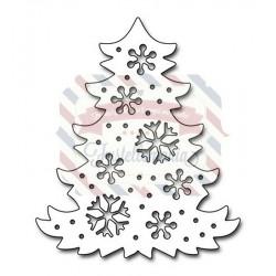 Fustella metallica Penny Black Snowflake Tree