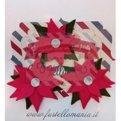 Fustella Sizzix BIGz L Layered Poinsettia Stella di Natale