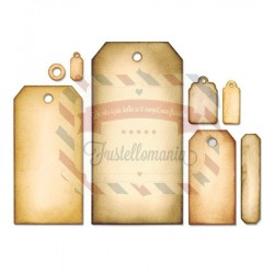 Fustella Sizzix Framelits Tag Collection Set