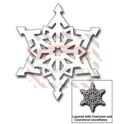 Fustella metallica Luchon Snowflake